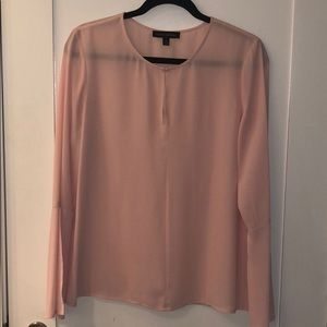 Silk Blouse with Bell Sleeves